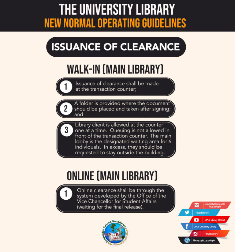 Issuance of clearance big