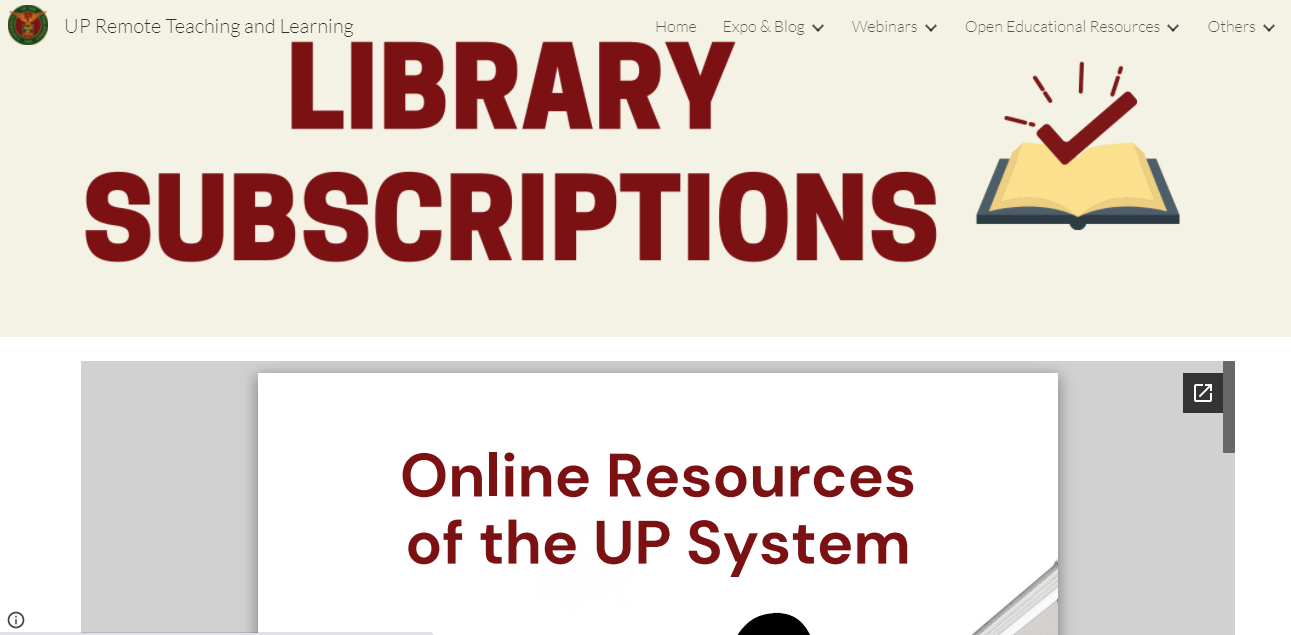 UP Remote Teaching and Learning